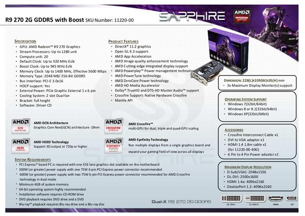 Radeon R9 270 Saphhire