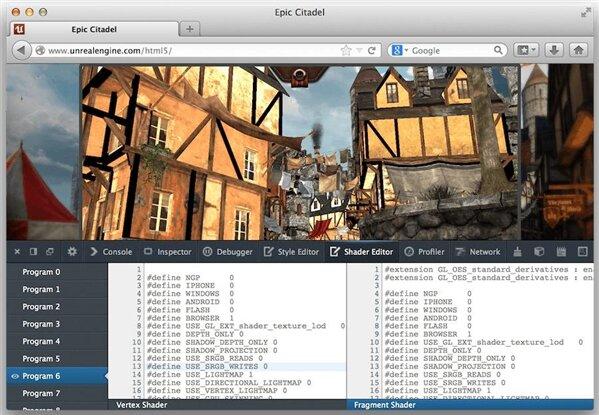 shader editor firefox