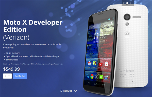 Moto X Developper Edition