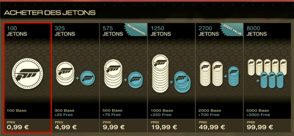 Forza 5 Microtransactions