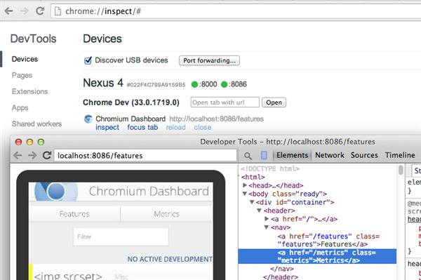 Chrome Mobile Remote Debug Screencast