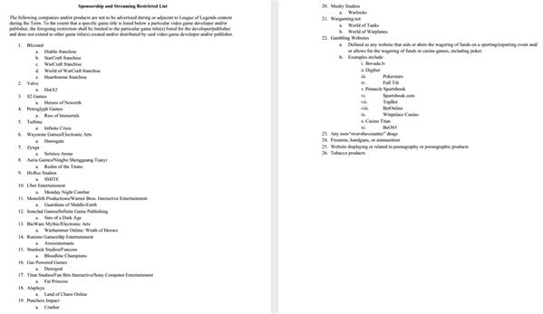 Contrat exclu LCS S4