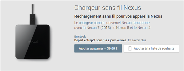 Chargeur sans fil Nexus