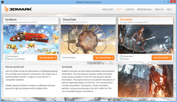 3DMark Windows 8 1.2.250