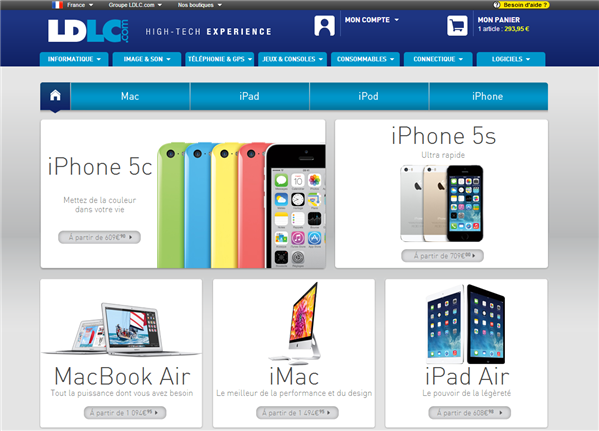 LDLC boutique Apple