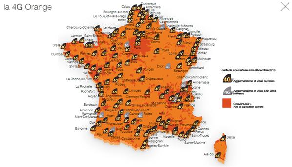 4G Orange 1102 villes
