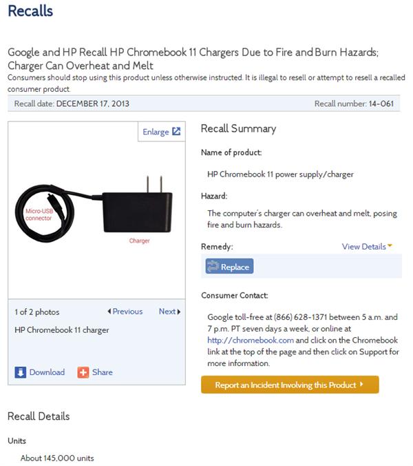 Chromebook 11 rappel