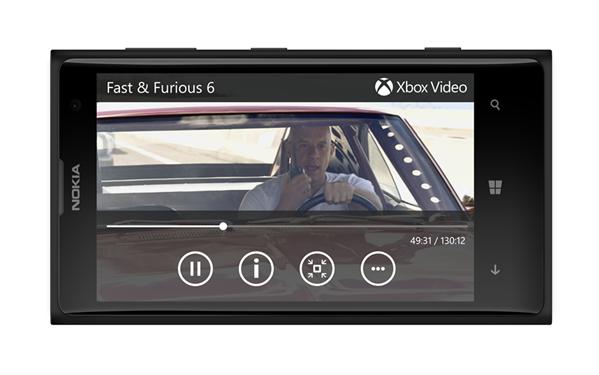 Windows Phone 8 Xbox Video