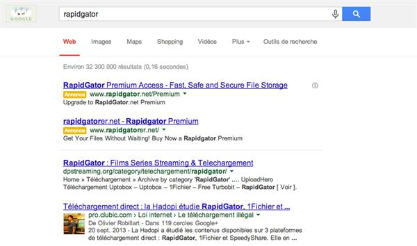 rapidgator google