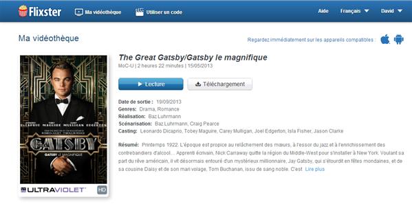 Gatsby Flixster