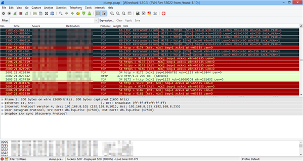 Dump Wireshark Bug Bouygues Telecom