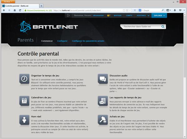battle.net controle parental