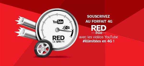 RED SFR 4G YouTube