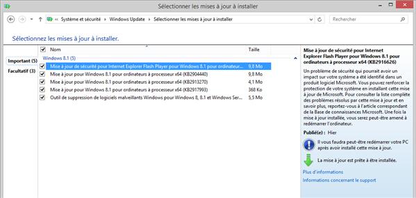 windows update janvier 2014