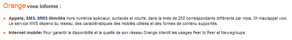 Orange restrictions