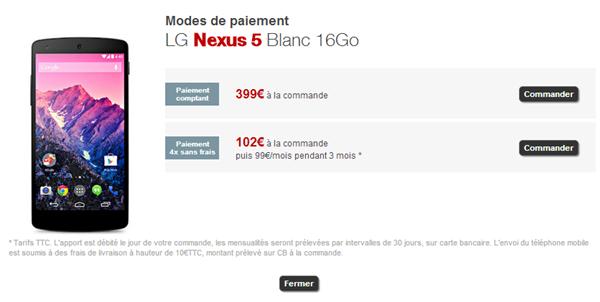 Nexus 5 Free Mobile