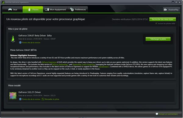 GeForce 334.67 Beta