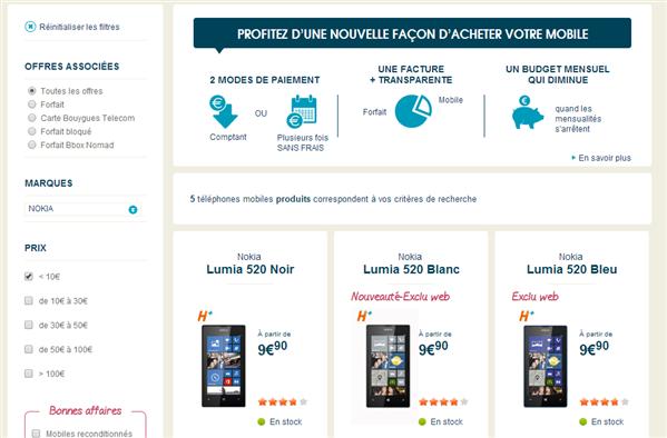 Bouygues Lumia 520