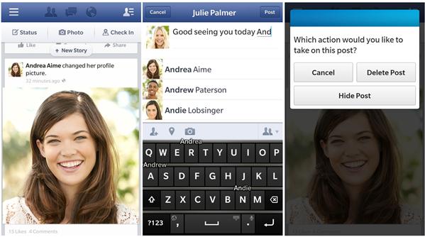 Facebook 10.3 BlackBerry OS