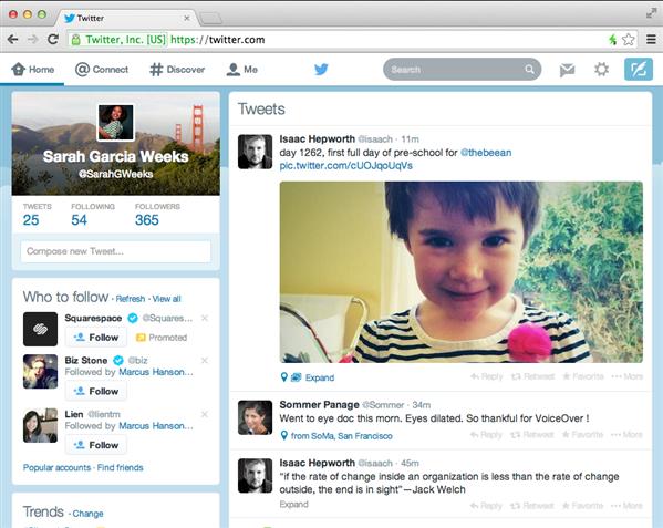 Twitter Web New Look