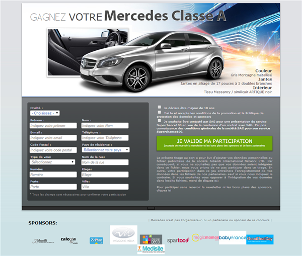 Concours Mercedes Twitter