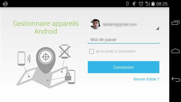 Gestionnaire Appareil Android