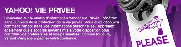 Yahoo vie privée