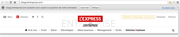 Geolocalisation L'Express