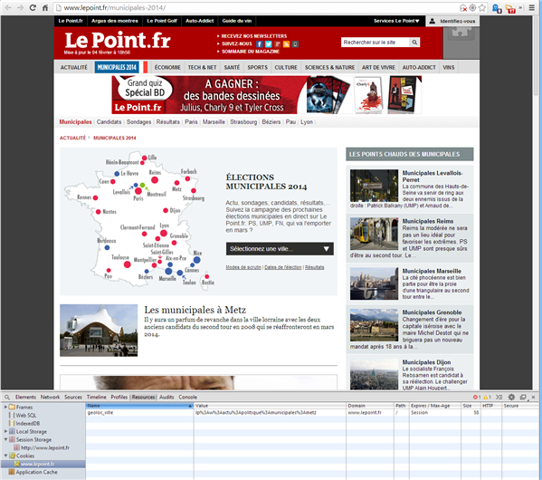Geolocalisation Le Point Municipales