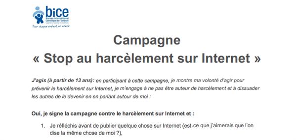 charte cyberharcèlement