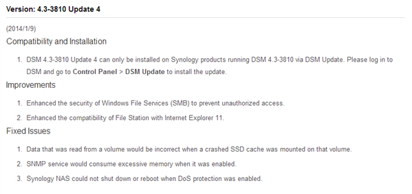 DSM 4.3-3810 Update 4