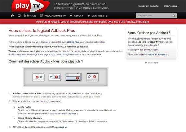 PlayTV Adblock