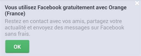 Facebook illimité Orange