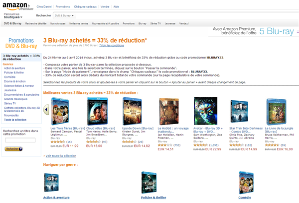 remise Blu-ray Amazon