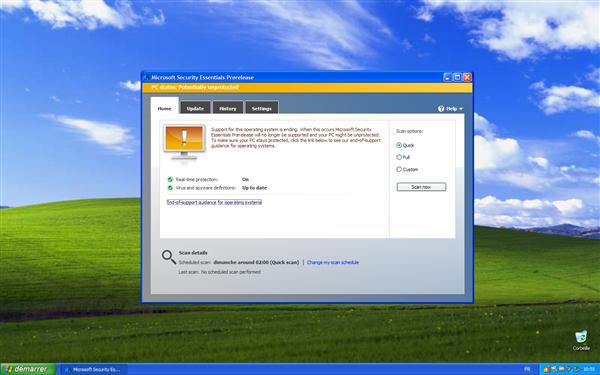 windows xp security essentials