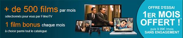 Filmo TV 1 mois offert