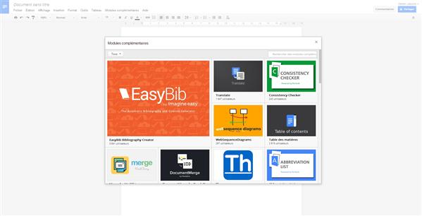 Google Drive modules complémentaires