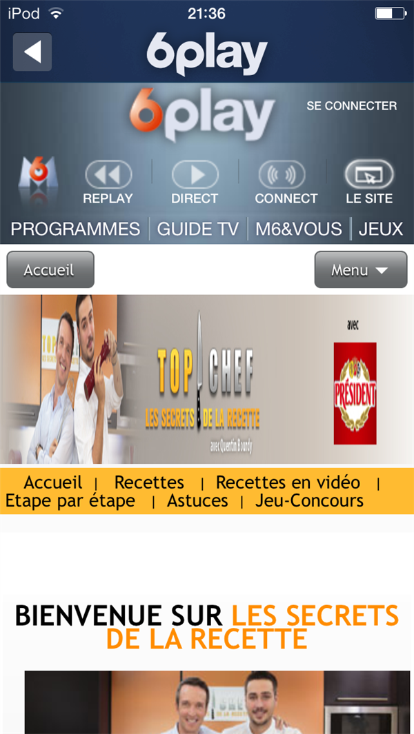 M6 Connect Top Chef 2014