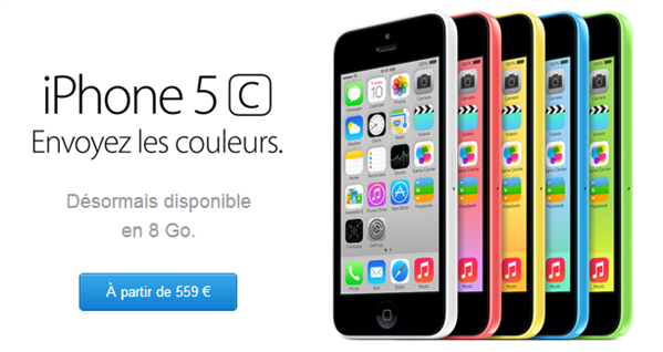 iPhone 5c 8 Go
