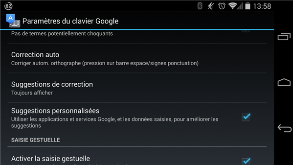 Google clavier Android