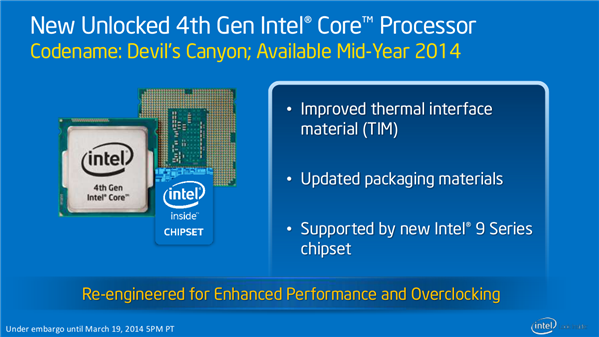 Intel Roadmap Update Mars 2014