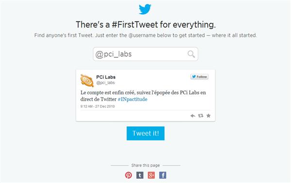 Premier Tweet Twitter