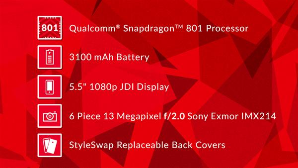 OnePlus One caractéristiques techniques