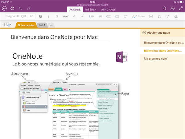onenote ipad ios