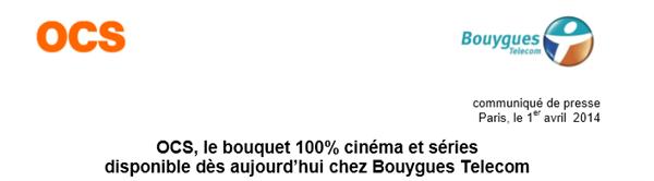 OCS Bouygues Telecom