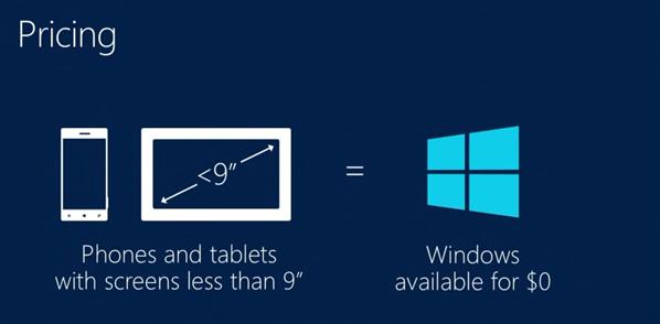 windows gratuit smartphones tablettes