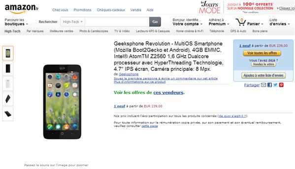 Geeksphone Amazon
