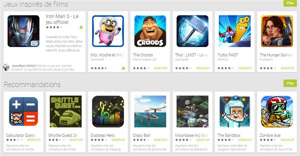 Jeux Google Play