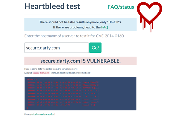 Heartbleed Secure.darty.com