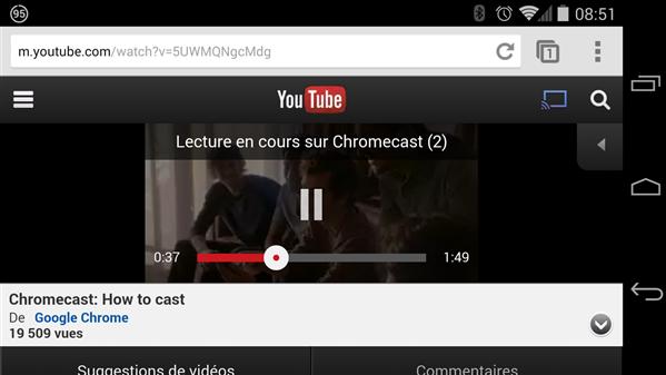 YouTube Mobile Chromecast